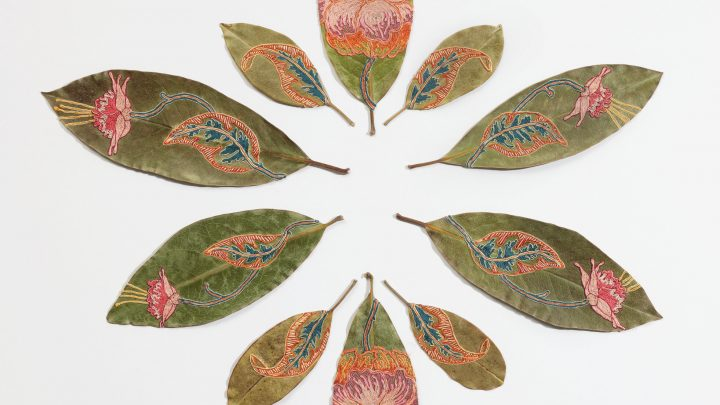 Awesome Art on Dry Leaves
