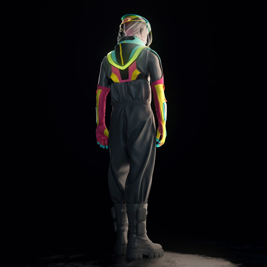 A Cyperpunk Suit To Club During A Pandemic