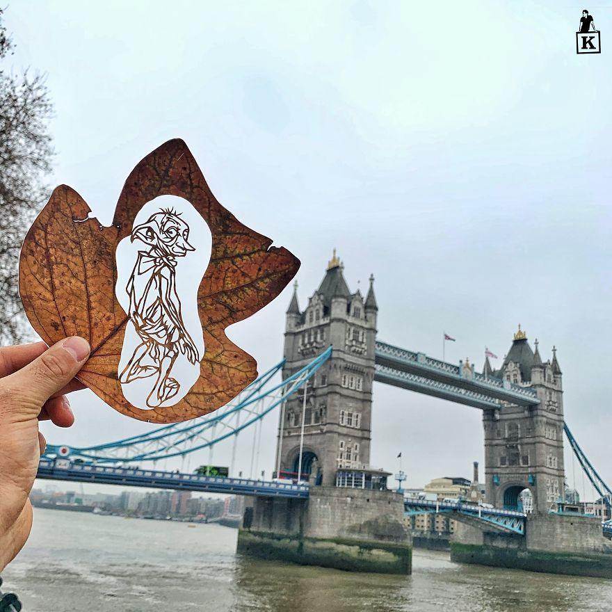 Amazing Leaf-Cutting Art