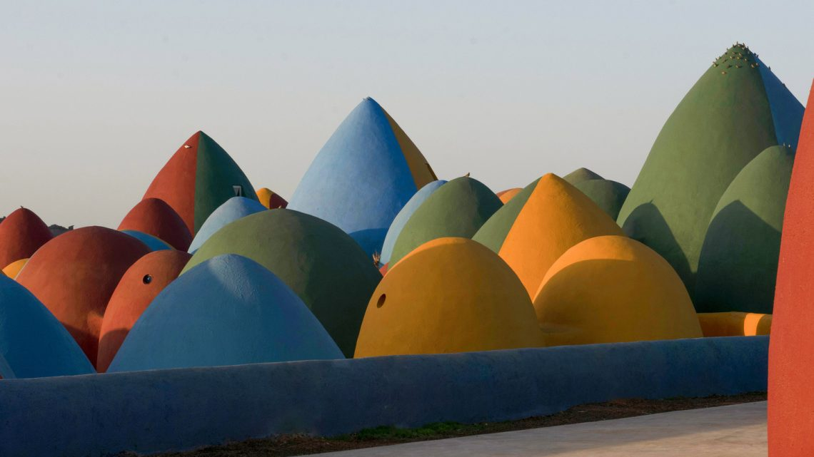 Colorful Domes in Hormuz Island